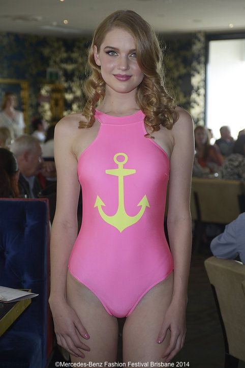 Molly Polly's hot pink sailor swimsuit