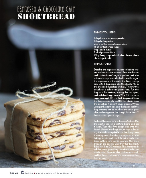 Espresso & Chocolate Chip Shortbread See more in ZAKKA - issue nr 4 ...