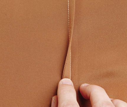 Finishes for silky fabrics that fray