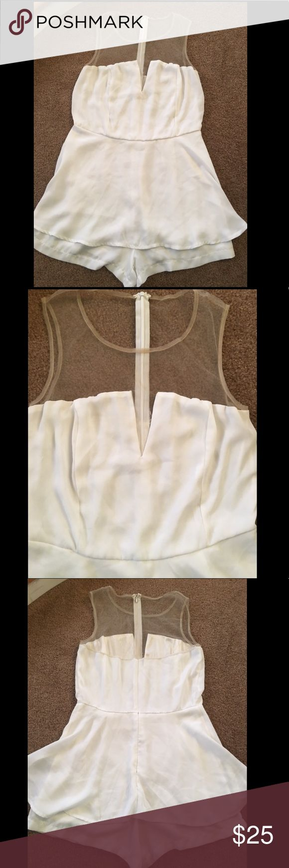 Sexy White Party Club Dress Size large super white party girl cute dress. Has mesh see through area in the front. Pictures are front and back. Light white cream color. Feel free to ask any questions! (:  #wedding #prom #formal #club #clubdress #summer #sundress #dress #floral #flowers #sun #hot #summerdress #mini #rue21 #21 #young #ootd #outfitoftheday #sexy #hot #kylie #kyliejenner #taylorswift #beach #beachdress #formal #simple #promdress  #modest #longdress #long #forever21 #taylorswift…
