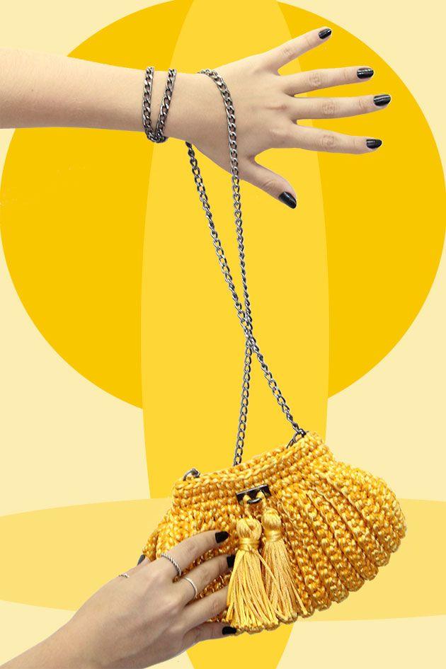 Amarelo, a cara do verão, eco bag da Catarina Mina.