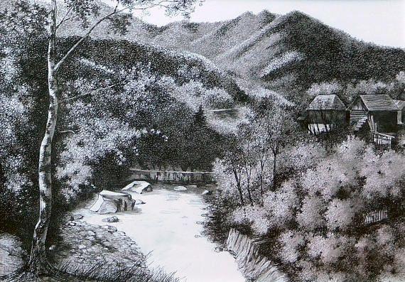 Varlaam  art print from original ink painting