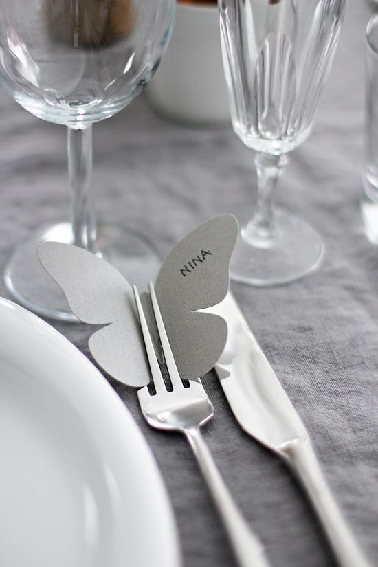 Perhos paikkokortti #wedding #placecard