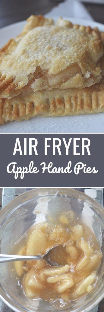 Air Fryer Apple Hand Pies - Recipe Diaries #AirFryer #airfryerrecipes #apple
