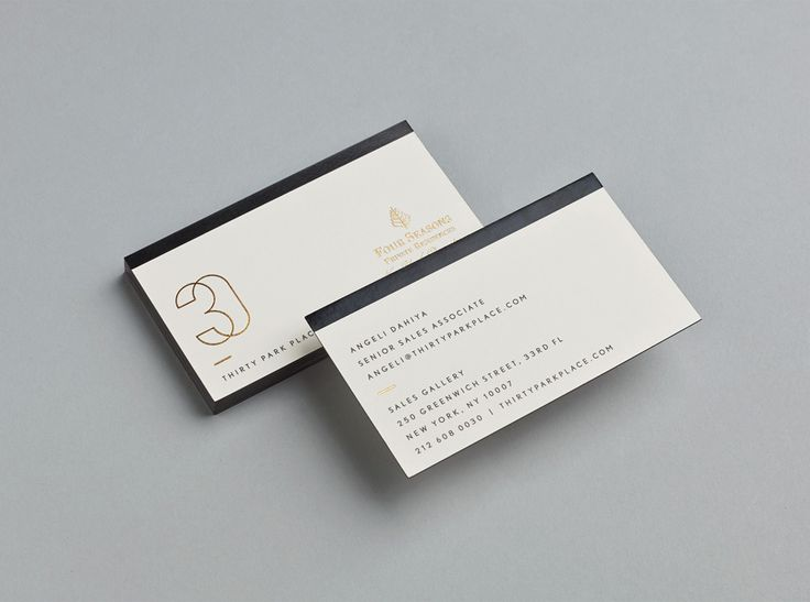 326 best cards images on pinterest brand identity brand gold foiled business cards for four seasons private residence 30 park place by mother reheart Images