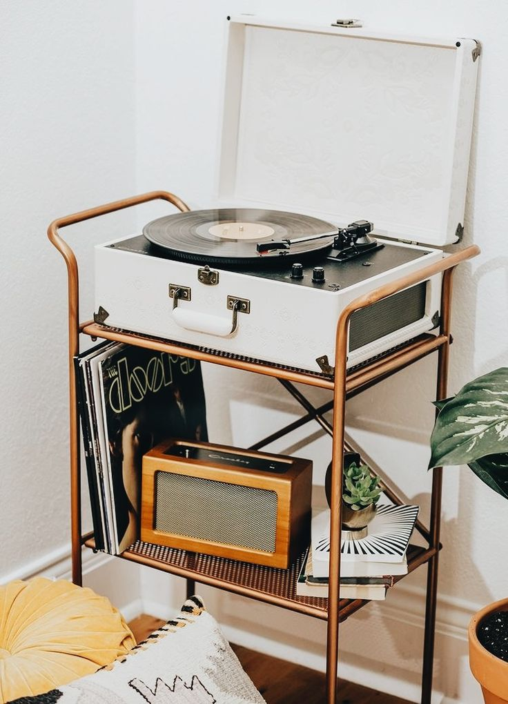 record player/plant cart - for the living room!