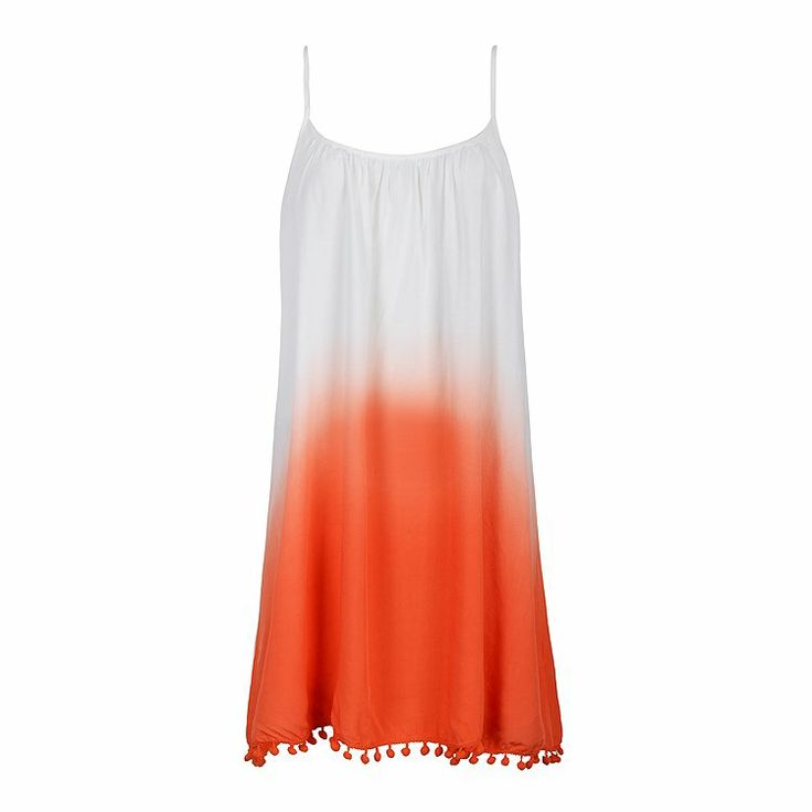 DIP DYE POM POM SUN DRESS (comes in blue 2) = $24.99