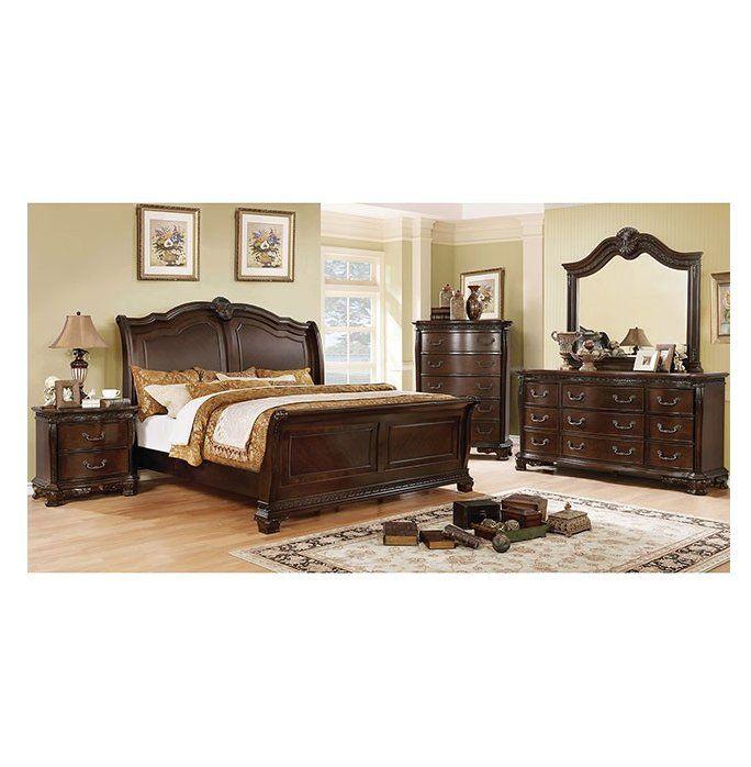 Astoria Grand Lena California King Sleigh Configurable Bedroom Set Reviews Wayfair Bedroom Sets Bedroom Sets Queen