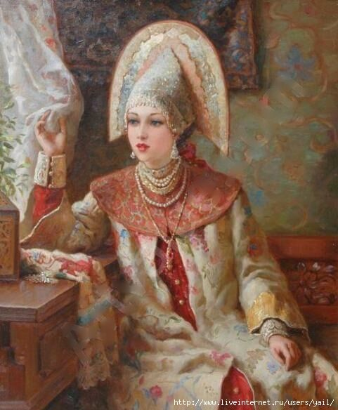 Russian Beauty near the window (481x584, 178Kb)
