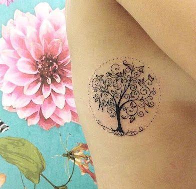 Resultado de imagem para arvore da vida tattoo feminina