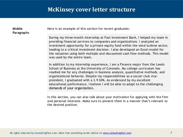 mckinsey cover letter sle | Sample resume cover letter ...