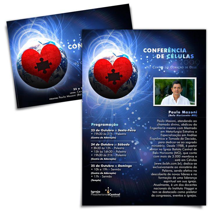 FLYER ••conceito e materiais para Conferência de Células    Igreja Presbiteriana Central de Londrina    2009 • Londrina/PR