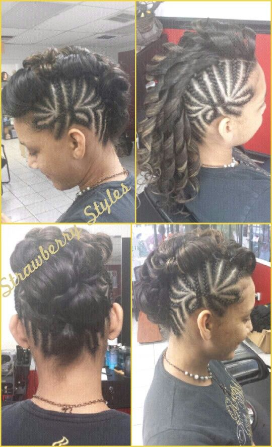 Mohawk Braid Updo Braids And Dreads Hair Styles