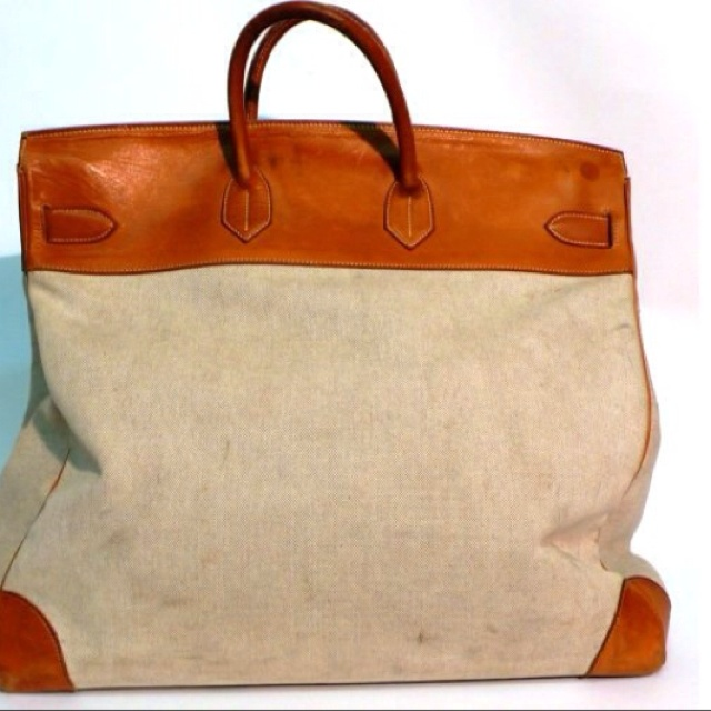 Vintage canvas and leather Herm¨¨s Haut a Courroies bag | Van\u0026#39;s ...
