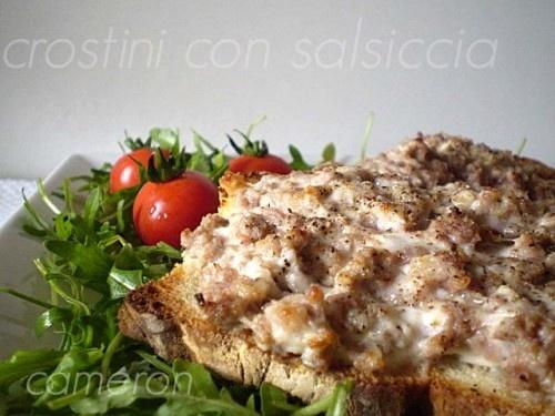 Crostini con salsiccia: Veloci Da, Easy Recipe, Ricetta Veloc P, Crostini Con, Try Ricett Facili, With Sausage, Second Courses, Tried Ricett Facili, Fast Recipe