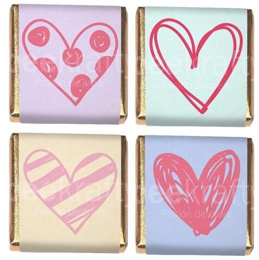 18 Minichocos personalizados para San Valentín! También los personalizamos con lo que quieras.  www.beekrafty.com #beekrafty #pasionporcrear
