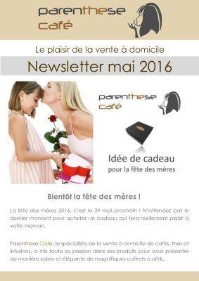 Newsletters Parenthese Café – Vente a domicile – Vente directe – Devenez VDI – Recrutement VDI