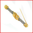 Charriol - Philippe Charriol Two Tone Gold  Steel Cable Rope Broach Pin - $139 - http://www.diamondsandgemstones.net/charriol-jewelry/#