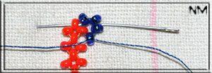 Плетение из бисера извивающегося квадратного жгута. Мастер-класс.