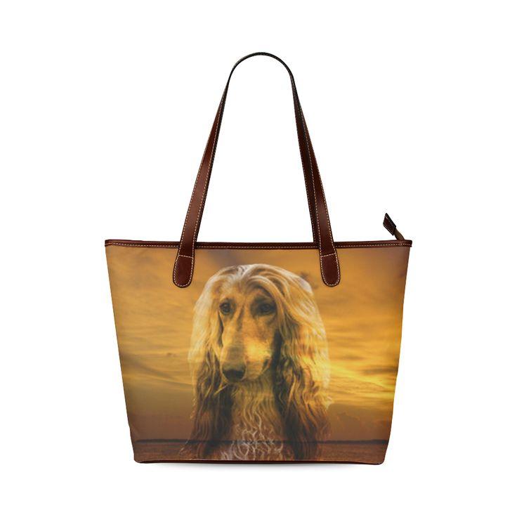 Dog Afghan Hound Shoulder Tote Bag (Model 1646)