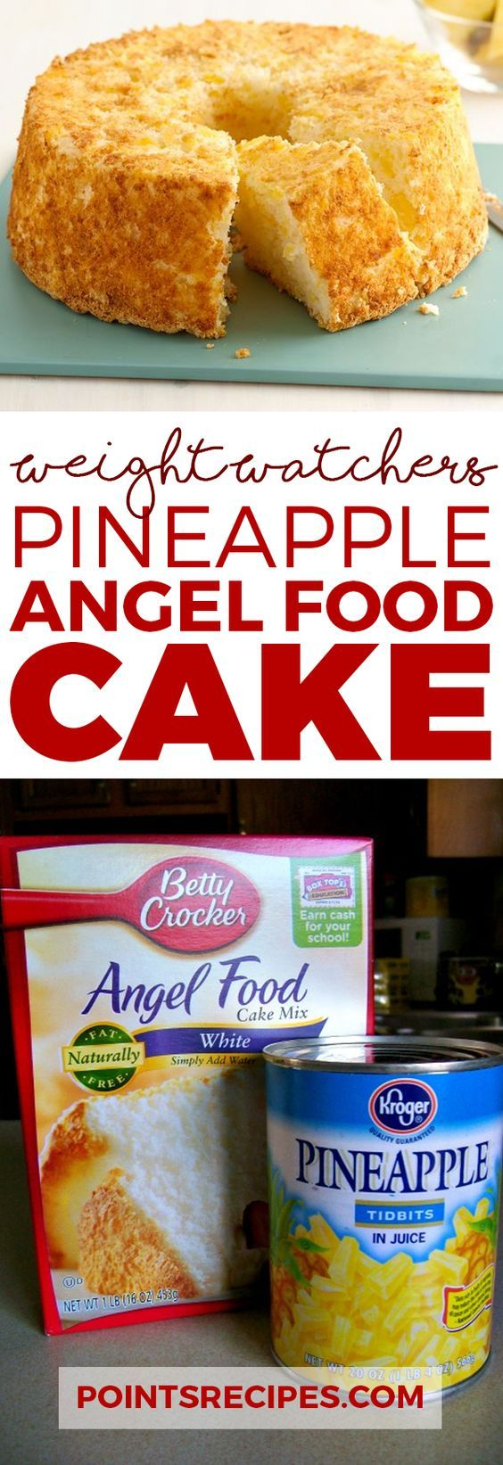 Pineapple Angel Food Cake (Weight Watchers SmartPoints)