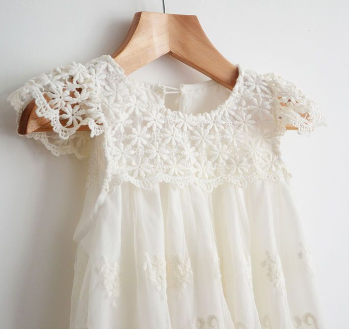 Flower girl dress Vintage Off-White party lace dress Toddler dress 1-12 Years | Clothes, Shoes & Accessories, Wedding & Formal Occasion, Girls' Formal Occasion | eBay!