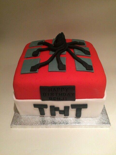 TNT Mine craft cake