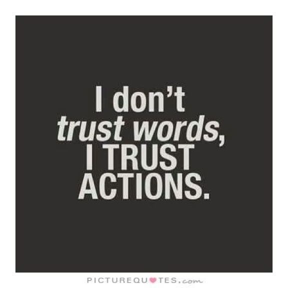 Trust Not Only Relies On Good Intentions But Consistent