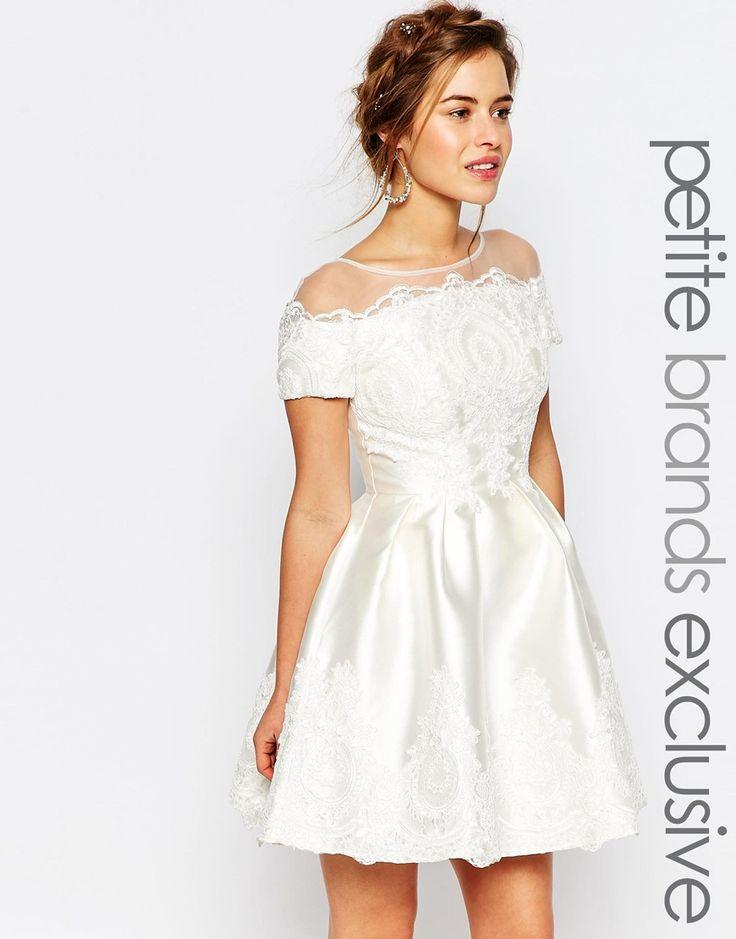 Image 1 ofChi Chi London Petite Bridal Mini Dress