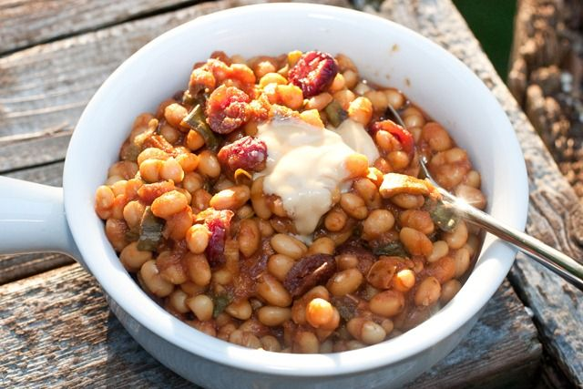 beans baked beans in the crock pot maple baked beans flickr photo ...