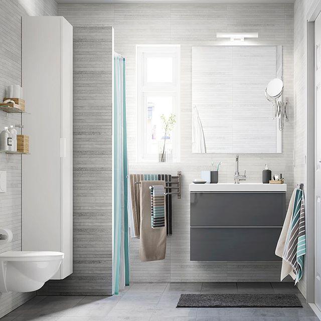 Если вам кажется, что в вашей ванной слишком мало места, возможно, пришло время задуматься о покупке компактной и вместительной мебели   А до 19 июня мы вернём 15% от её стоимости при покупке от 14 999 рублей! Подробности спецпредложения — на сайте и в магазинах ИКЕА. На фото: шкаф для раковины ГОДМОРГОН/ОДЕНСВИК (18490.-), высокий шкаф ГОДМОРГОН (9999.-) #IKEA #ИКЕА #ИКЕАРоссия