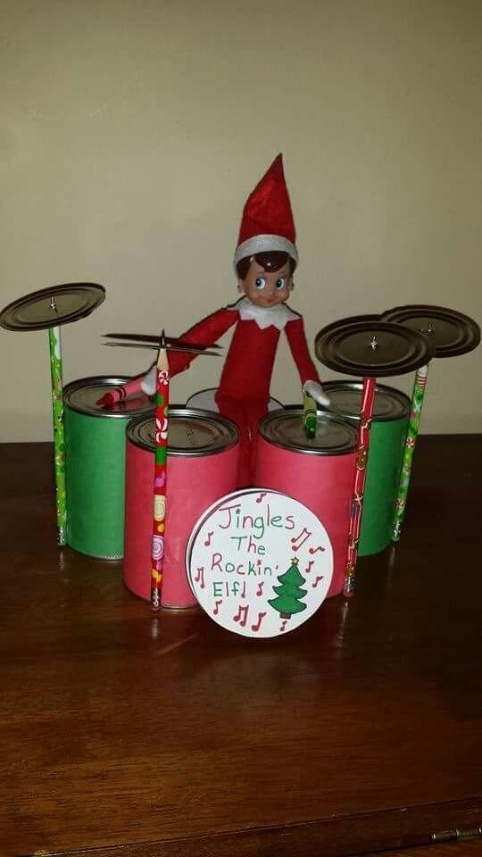 Drumming elf on the shelf