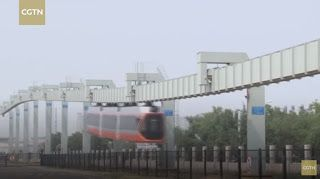 Pregopontocom Tudo: China lança trem suspenso mais rápido do país