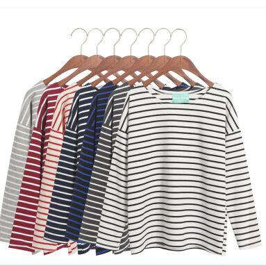 T シャツ - どんな着回しにも活用できる!ぽっちゃり女子にもおすすめのゆったりボーダーTシャツ