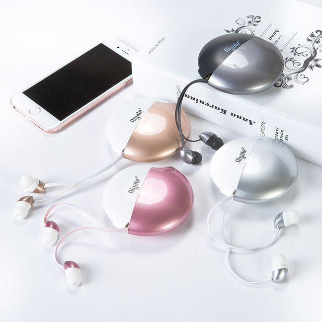 New Cute Birthday Gift Women Girl Stereo 3.5mm Earphone with Microphone for Kids Mobile Phone Xiaomi MP3 Organizer