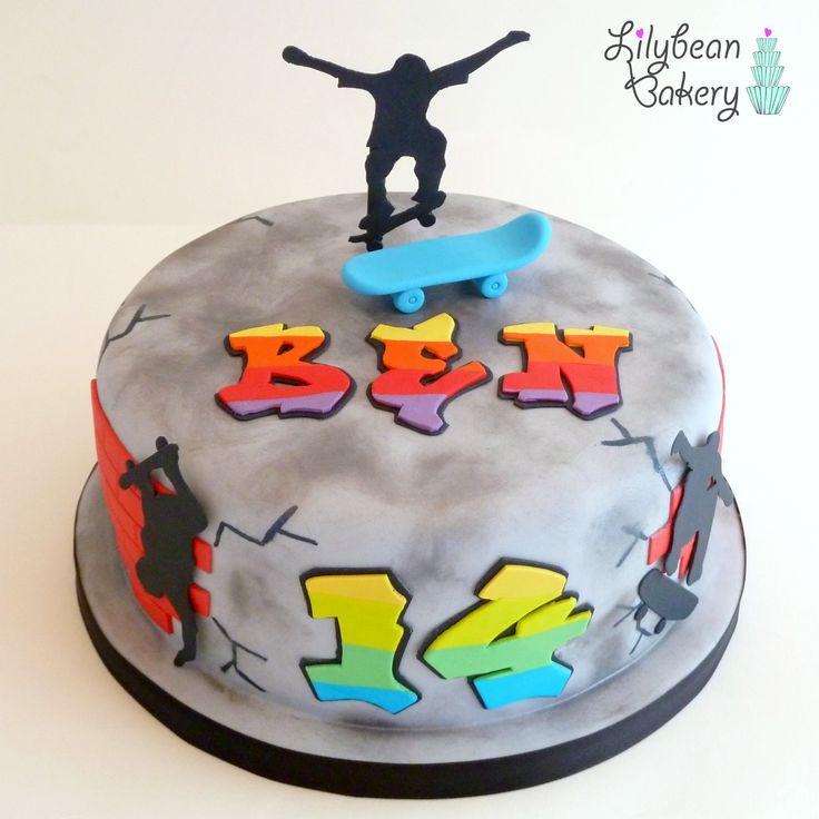 Skate Board  Graffiti Cake