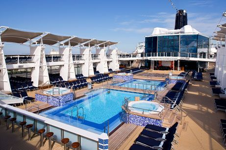 Relax by the pools aboard a Celebrity Cruise - Expedia CruiseShipCenters Oakville
