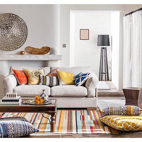 Buy John Lewis Diamond Shadow Floor Cushion Online at johnlewis.com