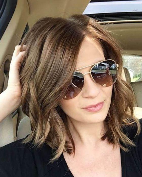 Asymmetrical long bob haircut 2020-2021 - Hair Colors ...