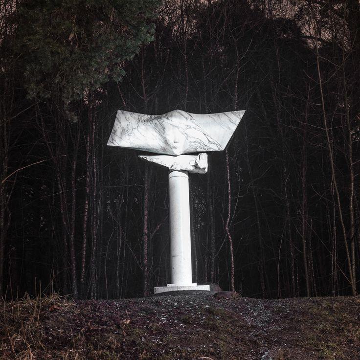 Ekeberg Sculpture Park, Oslo, Norway. Sculpture Drømmersken (The dreamerine) by Knutsen.