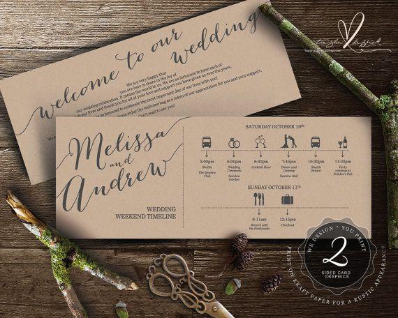 Printable Wedding Weekend Timeline t0100 Wedding by TeeshaDerrick