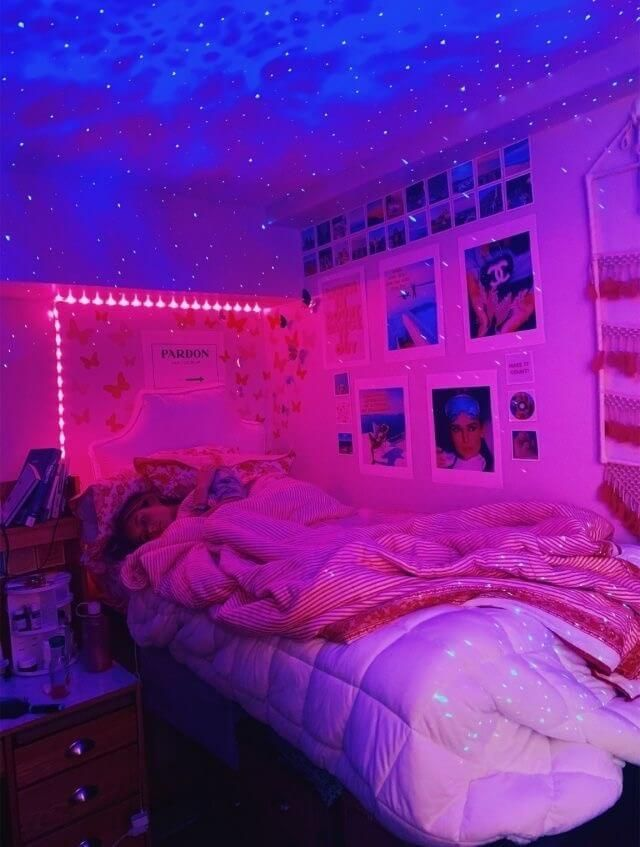 Pin By Penny On Bedroom Ideas Neon Room Neon Bedroom Redecorate Bedroom