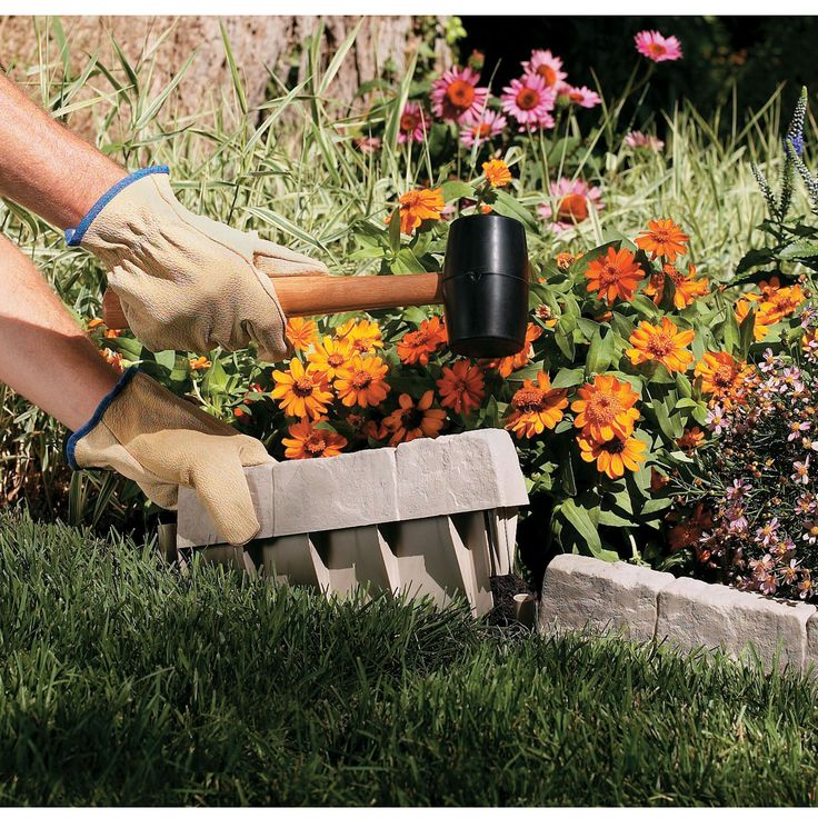 Prepare your garden with a finished look. Made from durable resin, our reproduction Stone Edging creates a decorative border for your flowerbed, garden, or other landscaping. Easy to install with no digging required. Just use a rubber mallet to effortlessly tap the Edging into place. Simple interconnect design provides a variety of landscaping patterns. Creates 10 feet of attractive perimeter and measures 12 inches wide by 2 inches thick—6 inches high, with about 2 inches above the ground.