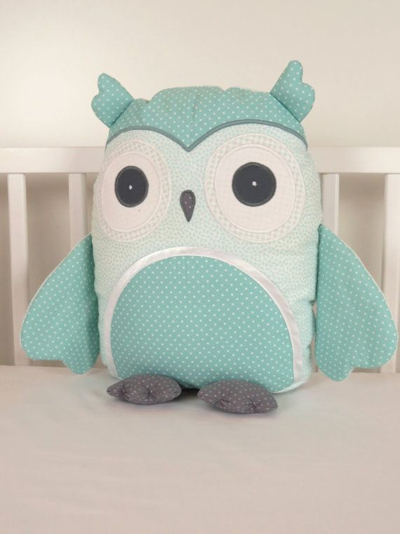 Kids Pillows, Owl Pillowcases, Teal and Gray Decorative Throw Pillow Cover…