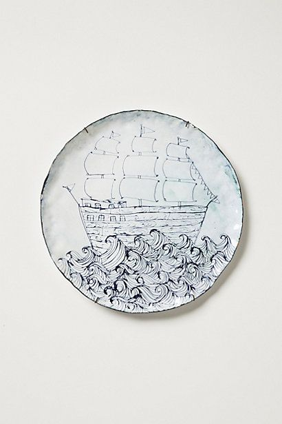 22 best images about sealife plates on pinterest for Calligrapher canape plate anthropologie