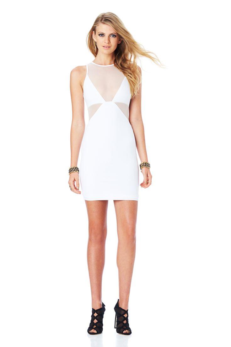 STILETTO MESH SHIFT DRESS (White) #nookie#nw14