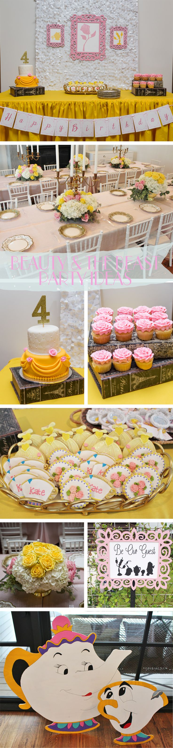 Princess Belle Party Ideas, Beauty and the Beast