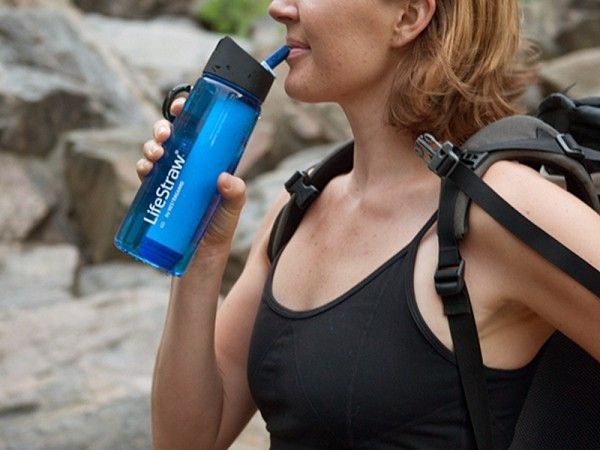 This water filter bottle, discovered by The Grommet, allows you to safely drink water whether you are on a hike, traveling, or caught in an emergency.