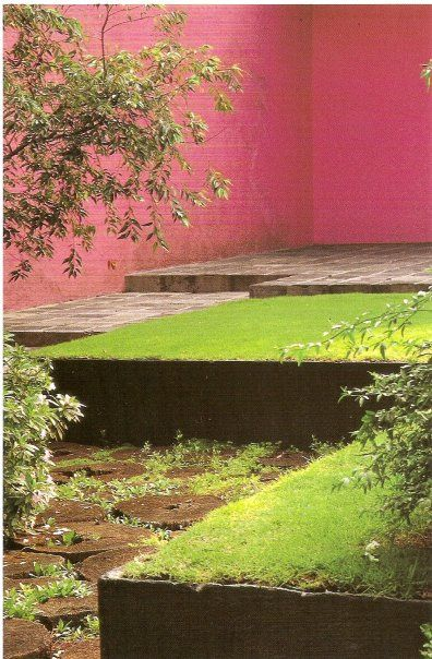 Luis Barragán (1902-1988) - raised lawn, multiple level courtyard