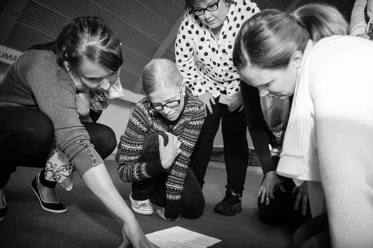 Suvi, Jenni, Marjukka & Jenni / Problem-solving at Vierumäki.